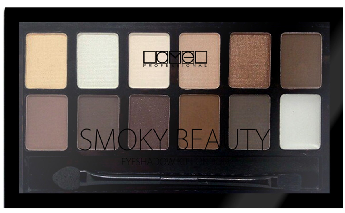 Lamel Professional Набор для макияжа - тени и основа для век Смоки 12-1, 12 г5060449188252Все что нужно тени и база для теней. Стойкойсть и насыщенность цвета гарантирована. Smoky- универсальные ттона для любого возраста и цветотипа.