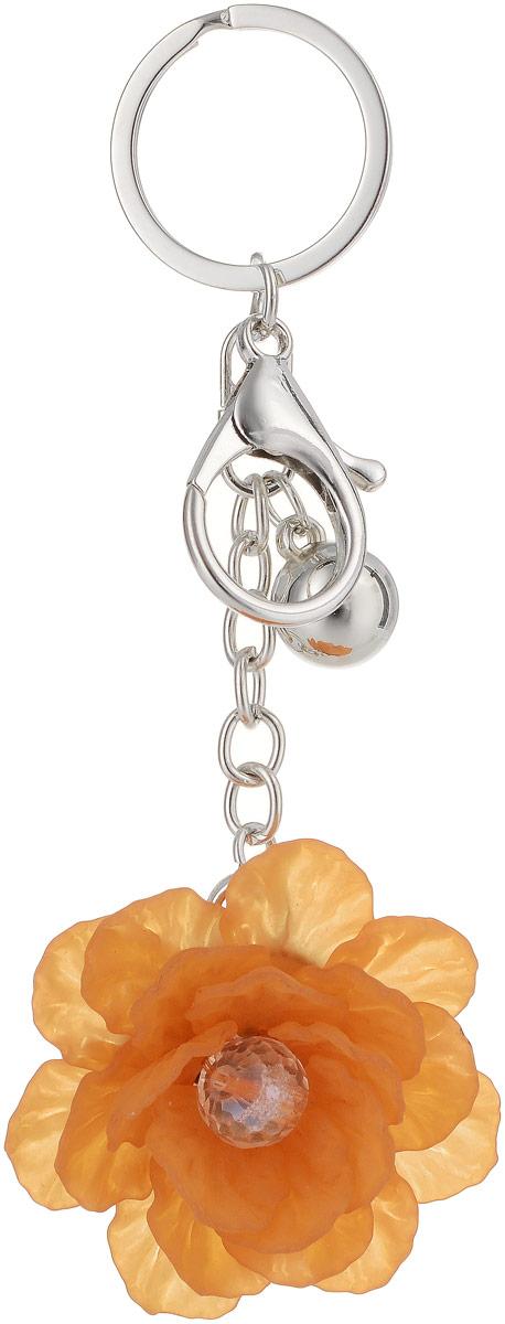 Брелок Taya, цвет: серебристый, оранжевый. T-B-13283 taya t b 12526 neck gl hematite
