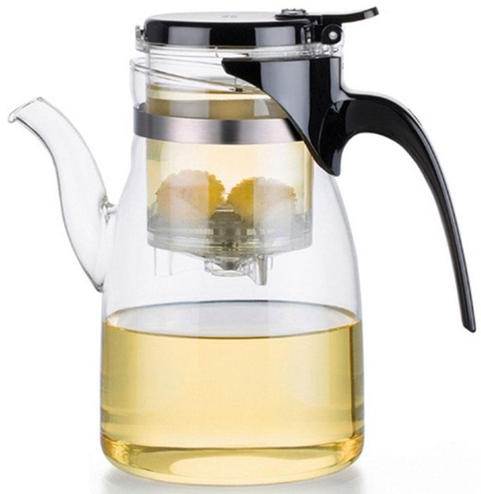 Чайник заварочный Samadoyo, 900 мл. B-04B-04Заварочный чайник Samadoyo - простой и в тоже время профессиональный инструмент длятого, чтобызаварить ваш любимый чай. Уникальный механизм слива чайного настоя позволяет вамполучить напиток любой степени крепости. Чайник можно не только комфортно использовать на работе или в офисе, но и взять с собой впутешествие, чтобы ваш любимый чай был всегда с вами! Чайник выполнен извысококачественного боросиликатного стекла и выдерживает температуру до 180°С, чтопозволяет не беспокоиться относительно слишком горячего кипятка.Заварочная колба выполнена из специального пищевого пластика, имеет металлическийфильтр,предотвращающий попадание чаинок в настой, а специальный запатентованный клапансливает все без остатка в чайник. Края крышки колбы имеют специальные бортики. Это оченьудобно в тех случаях, когда колбу, после заваривания, нужно поставить на стол и при этом непролить чай. Колбу по необходимости можно купить отдельно. Объем внутренней колбы: 220 мл.