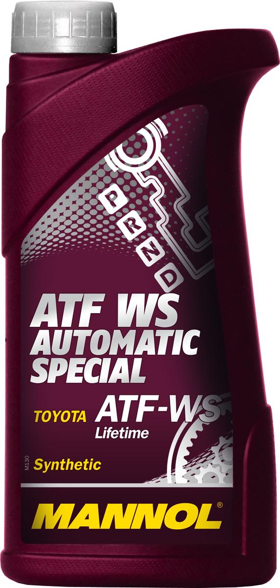 Масло трансмиссионное MANNOL ATF WS Automatic Special, синтетическое, 1 л1367Трансмиссионное масло Mannol ATF WS Automatic Special - специальная синтетическая гидравлическая жидкость для трансмиссий автомобилей Toyota с контролем скольжения передач. Тщательно подобранные присадки и синтетические компоненты обеспечивают наилучшие фрикционные свойства в момент переключения скоростей, отличные низкотемпературные характеристики, высокую антиокислительную и химическую стабильность на всем сроке эксплуатации. Предназначено для большинства 6-ступенчатых и некоторых 5-ступенчатых автоматических трансмиссий, используемых в автомобилях Toyota с 2005 года. Продукт имеет допуски / соответствует спецификациям / продуктам: AISIN WARNER, BMW 4 and 5 speed European, CHRYSLER ATF +3 / 4, MAN 339 Type Z-1, MB 4 and 5 speed European, TOYOTA T-III / T-IV / WS Lifetime, VOITH ATs 55.6335, VW 4 and 5 speed European.Вязкость при -40°C: 13100 CP.Вязкость при 100°C: 7,05 CSt.Вязкость при 40°C: 34,5 CSt.Индекс вязкости: 172.Плотность при 15°C: 846 kg/m3. Температура вспышки COC: 216 °C.Температура застывания: -45 °C.Товар сертифицирован.