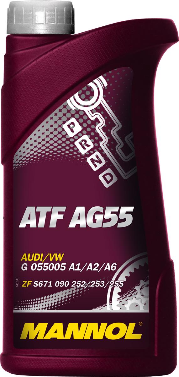Трансмиссионное масло MANNOL ATF AG55, синтетическое, 1 л1375Mannol ATF AG55 - специальная высококачественная синтетическая жидкость, предназначенная для современных 6-ступенчатых автоматических коробок передач леговых автомобилей и коммерческой техники. Обеспечивает комфортное переключение передач при низких температурах, защищает от износа пары трения, и способствует продлению срока службы АКПП. Продукт имеет допуски / соответствует спецификациям / продуктам:BMW 83220142516 (1375.4)/83220144137FORD Mercon SPHYUNDAI 040000C90SGJAGUAR C2C 8432LAND ROVER TYK500050VW G 055005 A1/A2/A6ZF S671 090 252/253/255