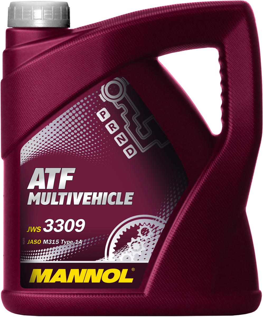 Трансмиссионное масло MANNOL ATF Multivehicle, синтетическое, 4 л2706 (ПО)Mannol ATF Multivehicle - специальная жидкость на основе смеси высококачественных базовых масел и новейшего пакета присадок для автоматических трансмиссий современных автомобилей. Уникальный состав модификаторов трения позволяет поддерживать необходимый уровень фрикционных свойств в течение длительного срока и обеспечивать плавное и мягкое переключение передач. Стойкость к воздействию высоких температур и отличные низкотемпературные характеристики жидкости позволяют надежно работать трансмиссии при любых климатических условиях. Продукт имеет допуски / соответствует спецификациям / продуктам: AISIN WARNER JWS 3309 JASO M315 Type 1A JATCO ATF TOYOTA ATF Type T/T-II/T-III/T-IV NISSAN/INFINITI MATIC FLUID C/D/J MITSUBISHI Diamond SP-II/SP-III MAZDA ATF D-III/M-3 DAIHATSU Alumix ATF Multi HONDA ATF Z-1 (not for CVT) SUZUKI ATF Oil/ATF Oil Special HYUNDAIKIA MOTORSDAEWOOGM DEXRON III H FORD Mercon V ZF TE-ML 14A VOITH G607 ALLISON C-4 MB 236.9 CHRYSLER ATF +3/+4