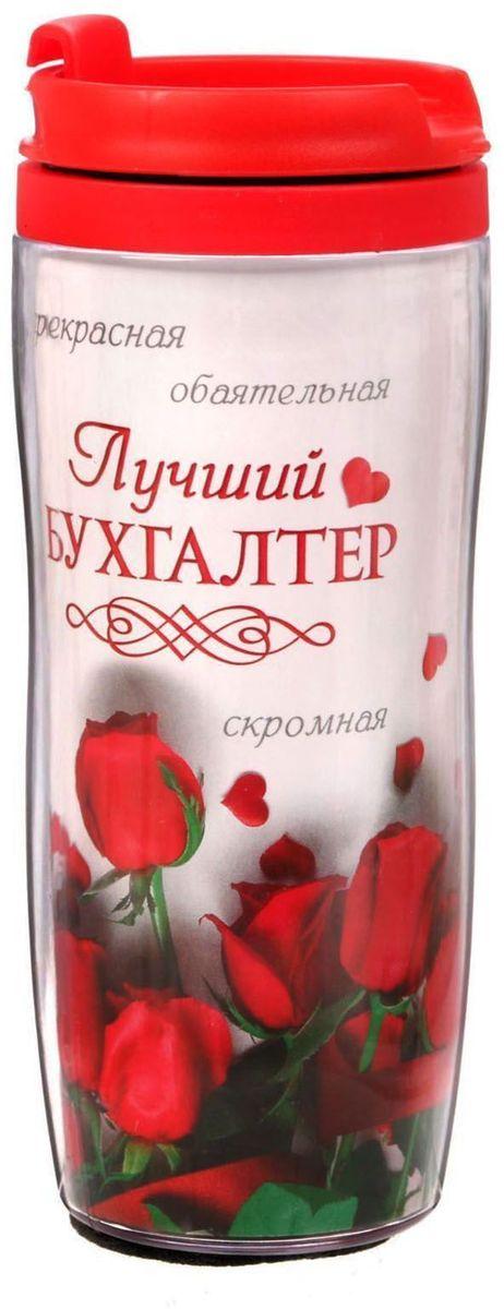 Термостакан Sima-land Бухгалтер.Розы, 350 мл