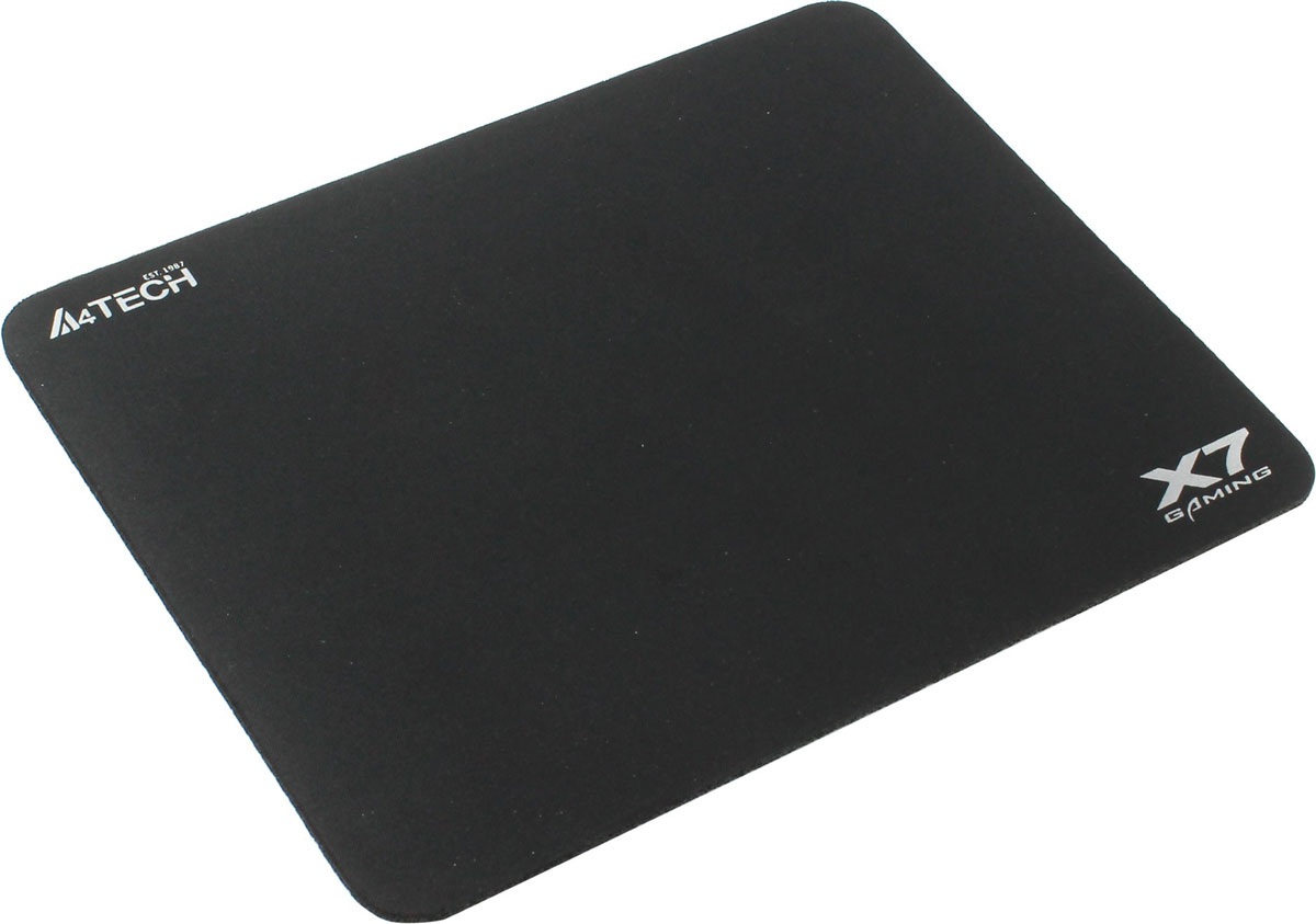 A4Tech X7-500MP, Black игровой коврик для мышиX7-500MPКоврик для мышки A4Tech X7 изготовлен из особой высококачественной ткани, он имеет специальноразработанную и нескользящую резиновую основу.Игровой коврик A4Tech X7 хорошо прилегает к рабочему столу, приятен на ощупь и обеспечивает лучшуюуправляемость мыши при абсолютно любой ее чувствительности. При этом площадь обеспечивает свободудействий, а также точность движений. Это прекрасный выбор для тех игроков, кто хочет иметь по-настоящемукачественный матерчатый коврик, который бы долгое время сохранял свои характеристики, а также внешний вид.