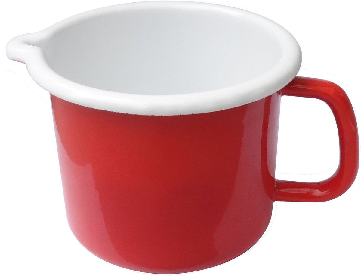 Молочник SSW, 14 см. 140414140414Молочник SSW выполнен из высококачественной нержавеющей стали. Внешние стенки изделиявыкрашены в красный цвет, внутренние - в белый. Молочник оснащен удобной ручкой. Кромкаизделия оснащена специальным носиком для удобного выливания содержимого, а на внутреннейстороне молочника есть мерная шкала.Молочник SSW займет достойное место на вашей кухне!Подходит для любых видов плит, включая индукционные. Можно мыть в посудомоечной машине.