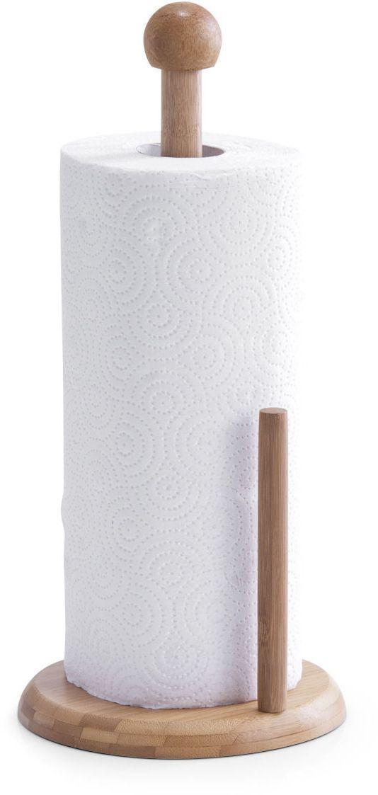 Держатель для кухонного полотенца Zeller, 16 х 34 см. 2527225272Держатель Zeller, изготовленный из высококачественного дерева, предназначен для бумажных полотенец. Изделие имеет широкое круглое основание. В комплекте - рулон бумажных полотенец. Такой держатель станет полезным аксессуаром в домашнем быту и идеально впишется в интерьер современной кухни.