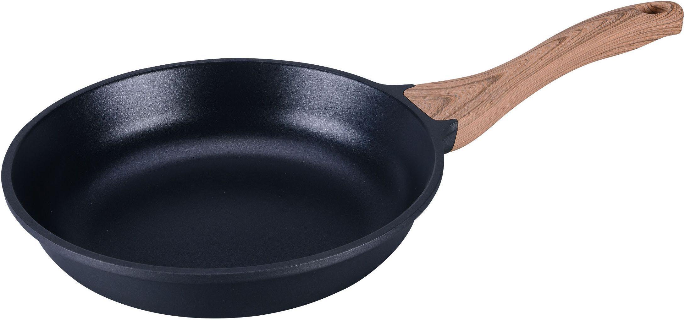Сковорода SSW, с деревянной ручкой, 28 х 6 см. 316528316528Сковорода SSW изготовлена из высококачественного алюминия с внутренним антипригарным покрытием. Покрытие не оставляет послевкусия, делает возможным приготовление блюд без масла, сохраняет витамины и питательные вещества. Удобная деревянная ручка не нагревается во время приготовления пищи. Сковорода пригодна для использования на всех типах плит, в том числе индукционных. Подходит для чистки в посудомоечной машине. При мытье не использовать абразивные моющие изделия и средства.