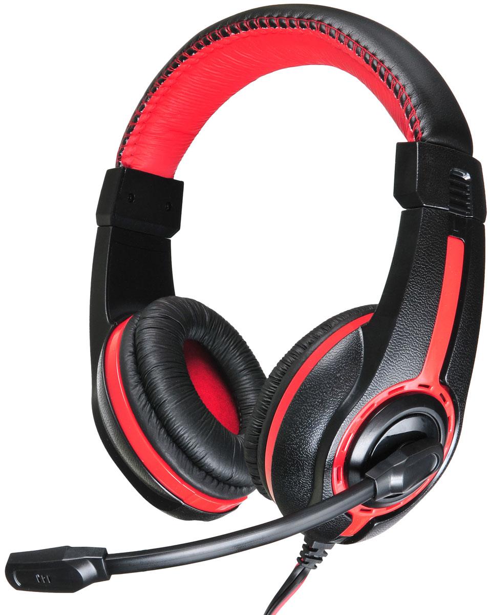 Oklick HS-L200, Black Red компьютерная гарнитураHS-L200Совместимые со всеми современными устройствами, которые оснащены разъемом 3,5 мм, наушники с микрофоном Oklick HS-L200 обеспечат вам комфортное прослушивание музыки, просмотр фильмов, подойдут для сетевых игр, а также голосового общения в сети Интернет и по телефону. Длина кабеля обеспечит удобство при использовании гарнитуры и со стационарной, и с портативной техникой. Мощности динамиков, встроенных в наушники с микрофоном Oklick HS-L200, достаточно для воспроизведения качественного звука. Плотно прилегающие к ушам мягкие амбушюры данной модели обеспечивают отличную шумоизоляцию и не создают ощущения дискомфорта. Для максимального удобства пользователя имеется возможность регулировать положение микрофона относительно рта, а также громкость воспроизводимого звука, для чего на кабель вынесен удобный регулятор.