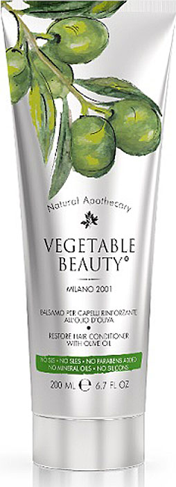 Vegetable BeautyБальзамдляволосвосстанавливающийсмасломоливы,200мл8032568-302083Vegetable Beauty - это новая линия высокоэффективных косметических продуктов, разработанная на основе натуральных растительных биокомпонентов, которые попадают прямо в цель!Благодаря современным разработкам итальянских ученых, высокотехнологичной исследовательской базе и самым высоким стандартам производства, были созданы самые натуральные и безопасные косметические продукты под брендом Vegetable Beauty. Vegetable Beauty - красивыми будьте!Богатая текстура бальзама обеспечивает интенсивное питание и увлажнение волос. Оливковое масло в сочетании с маслом макадамии восстанавливает структуру волос изнутри, разглаживает, не утяжеляя их. Экстракт алоэ питает корни волос, увлажняет волосы по всей длине, избавляет от секущихся кончиков, защищает волосы от агрессивных внешних воздействий. Волосы становятся эластичными, мягкими, легко поддаются укладке. Единственный бальзам для волос на фармацевтическом рынке, содержащий самое оптимальное количество масла оливы. Высокоэффективные биокомпоненты питают каждый волос и фолликулу, восстанавливая поврежденные волосы и предотвращая их выпадение. Подходит для ежедневного ухода.