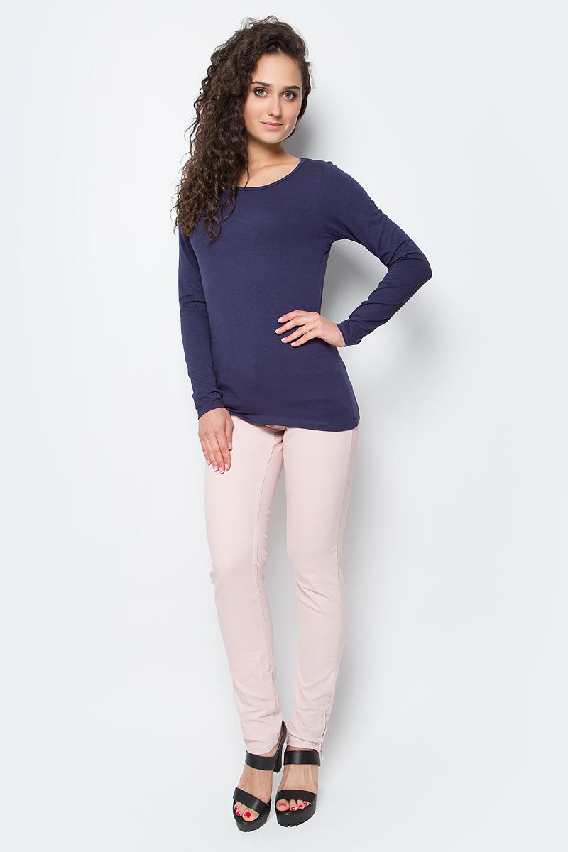 Лонгслив женский Top Secret, цвет: темно-синий. SPL0328NI. Размер 34 (40)SPL0328NIЛонгслив женский Top Secret выполнен из мягкого эластичного хлопка. Однотонная модель с круглым вырезом горловины - базовый элемент одежды, необходимый для создания большинства повседневных образов.