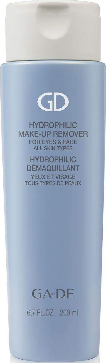GA-DE Средство для снятия макияжа с лица и глаз Hidrophilic, 200 мл138400000Невероятно мягкое очищающее средство для всех типов кожи с гидрофильным маслом и фруктовыми кислотами. Удаляет все виды макияжа.