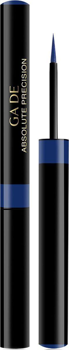 GA-DE Водостойкая подводка для глаз Absolute Precision, тон №03, 1,4 мл142300003Стойкая, водонепроницаемая жидкая подводка для глаз ABSOLUTE PRECISION позволяет одним движением создать безупречно ровнуюлинию контура с эффектным блестящим финишем.Особый аппликатор из синтетического вспененного материала со специально разработанным наконечником обеспечивает легкое иабсолютно точное проведение линии и позволяет применять различные техники создания контура. Инновационная быстросохнущая формула содержит светящиесяпигменты, способствующие яркости и интенсивности цвета, создающие эффект глянца. Подводка наносится идеально ровно и гладко, не расплываясь, не скатываясь и долго сохраняя свою яркость.