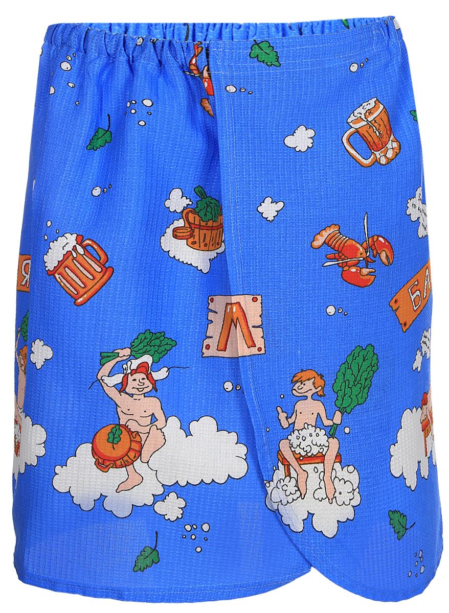 Килт для бани и сауны Невский банщик, мужской, цвет: синийБН88_синий, кружкаКилт для бани и сауны Невский банщик, мужской, цвет: синий