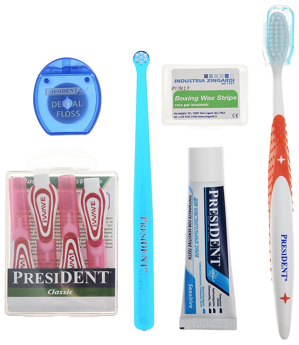 President брекет-набор, с ортодонтическим воском - Товары для гигиены