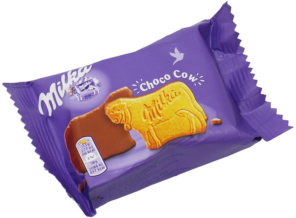 Milka Choco Moo пшеничное печенье с молочным шоколадом, 40 гУУ-00000205MILKA CHOCO COW - печенье в форме коровы, одна сторона которой покрыта шоколадным кремом. Упаковка маленькая, ее можно брать с собой в дорогу. Ее легко открыть сзади, а повторно закрывать не нужно - там всего лишь три печеньки, вы быстро их слопаете от голода, который просыпается от одного вида на эти заманчивые фигурки. Красивая коровка, на ней написано Милка. На оборотной стороне - тонкий слой шоколада. Это отличный вариант для школьников, которые могут утолить голод на перемене. Milka Choco Cow имеет аромат топленого молока. Хрустящее и сочное печенье подарит вам незабываемый вкус.