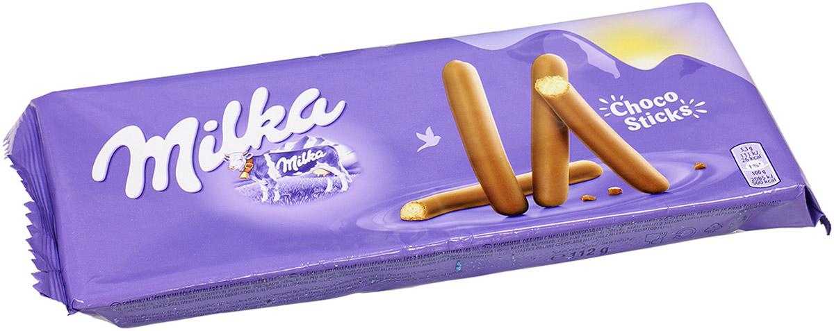 Milka Lila Stix палочки-печенья покрытые молочным шоколадом, 112 г milka cake