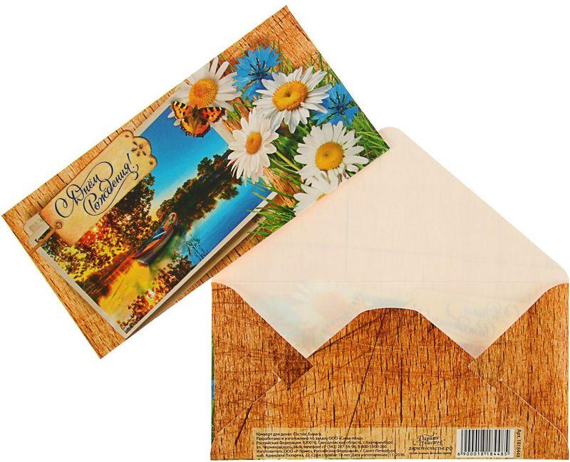 Конверт для денег Дарите счастье С Днем Рождения! Ромашки, 8 х 16 см1818448Всем известно, что хороший подарок - это полезный подарок. А деньги уж точно не будут пылиться в дальнем углу шкафа. Их можно преподнести на любое торжество. Подберите для своего подарка оригинальный конверт и скорее дарите близким радость!