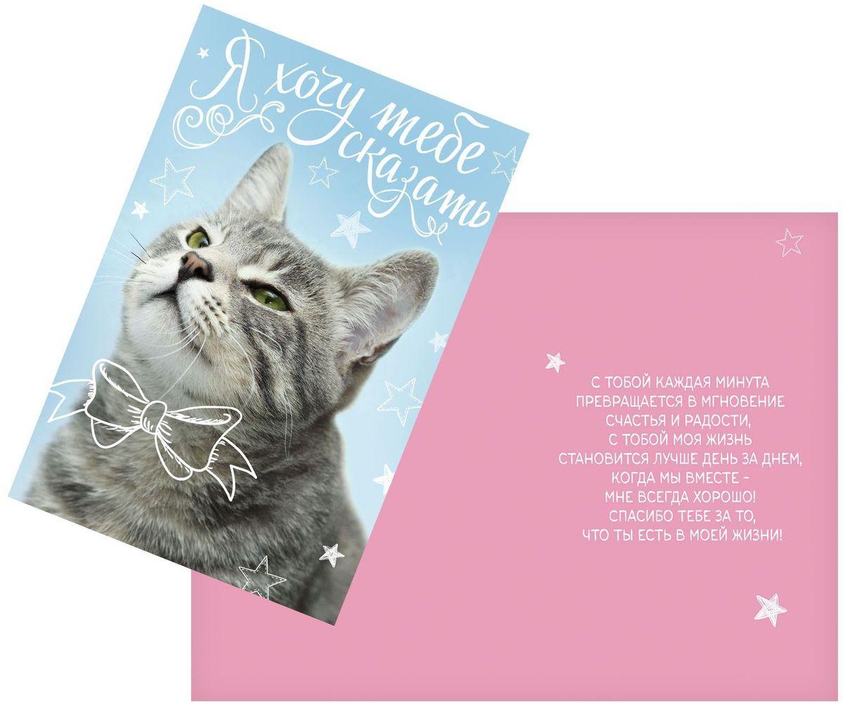 Открытка Дарите cчастье Спасибо за то, что ты есть, 12 х 18 см1744824Атмосферу праздника создают детали: свечи, цветы, бокалы, воздушные шары и поздравительные открытки - яркие и веселые, романтичные и нежные, милые и трогательные. Расскажите о своих чувствах дорогому для вас человеку, поделитесь радостью с близкими и друзьями. Открытка с креативным дизайном вам в этом поможет.