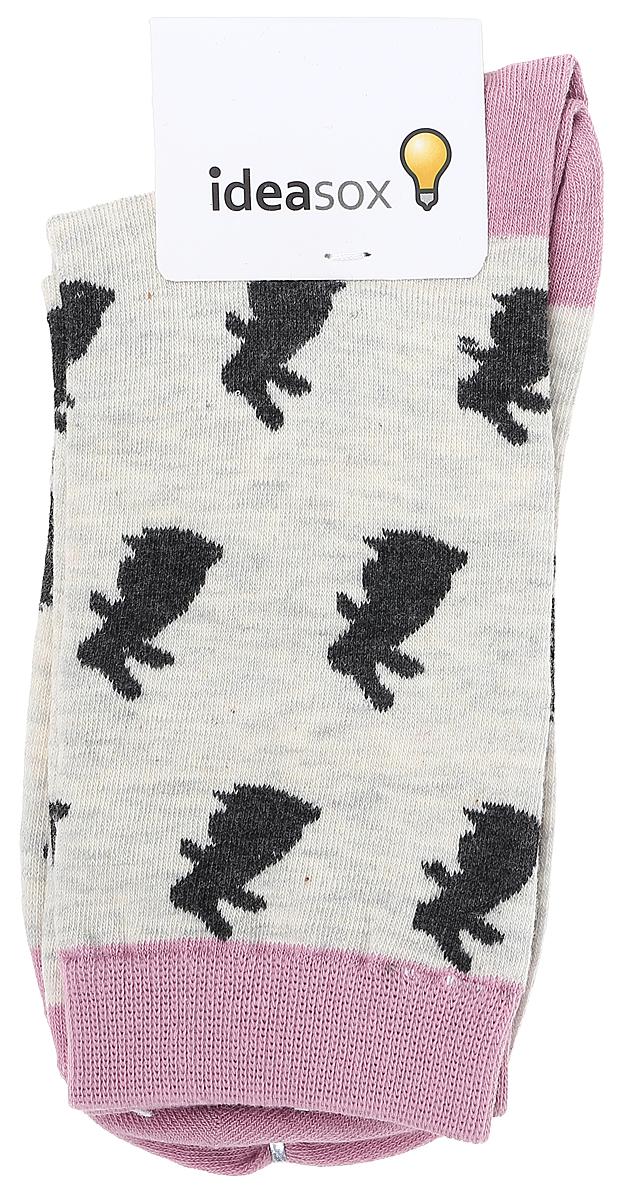 Носки женские Kawaii Factory Кролики, цвет: серый, розовый. 2006000057165. Размер 35/39 безремневой страпон fun factory share xl цвет розовый