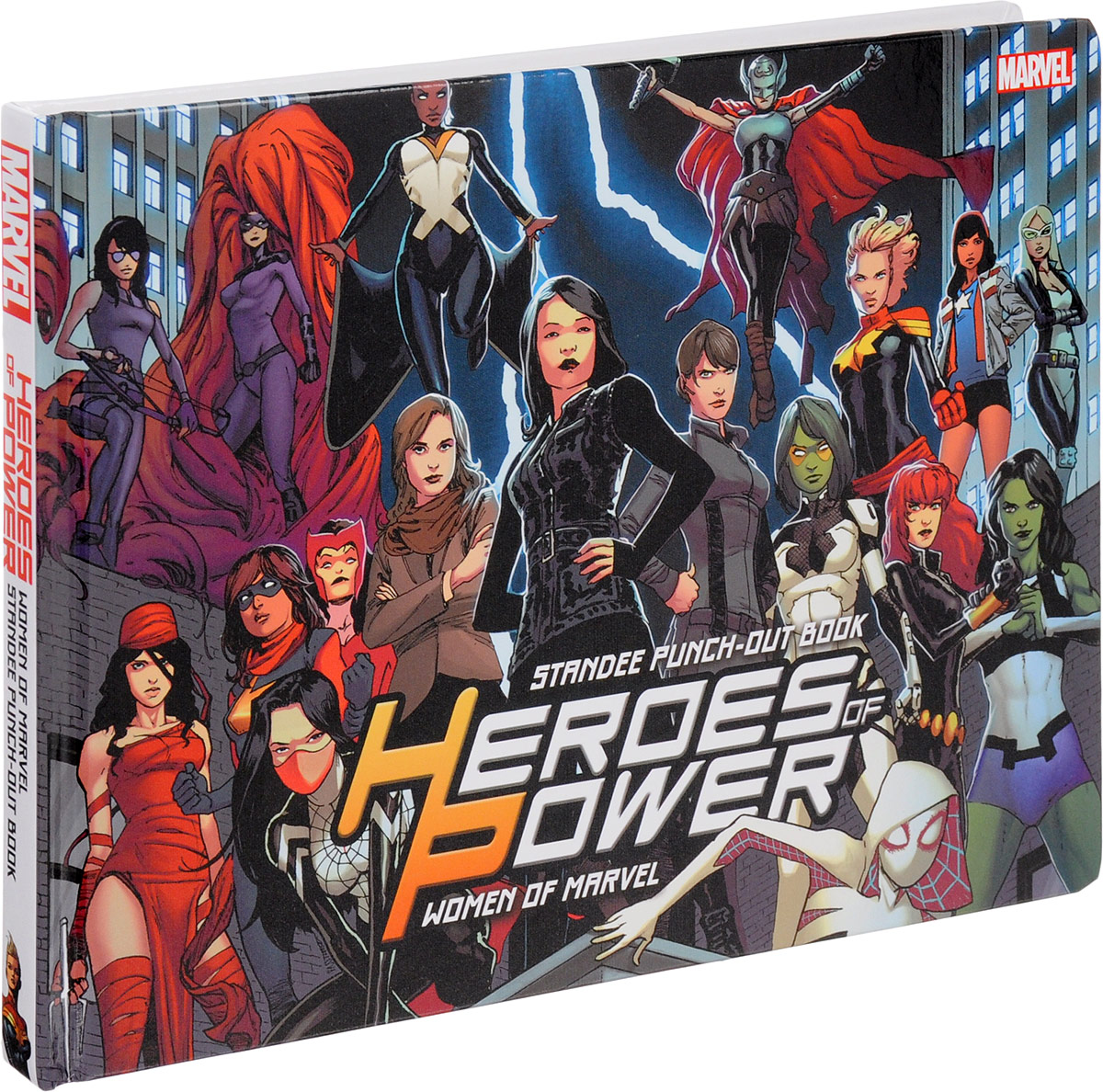 Heroes of Power: The Women of Marvel: Standee Punch-Out Book heretics and heroes