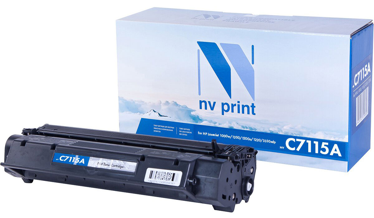 NV Print C7115A, Black тонер-картридж для HP LaserJet 1200/1200A/1200N/1220/3300/3320/3330/3380 compatible black toner laserjet printer laser cartridge for hp c7115a 7115a 15a 1000 1220 3330 3300 1005 1200 3380 2500pages