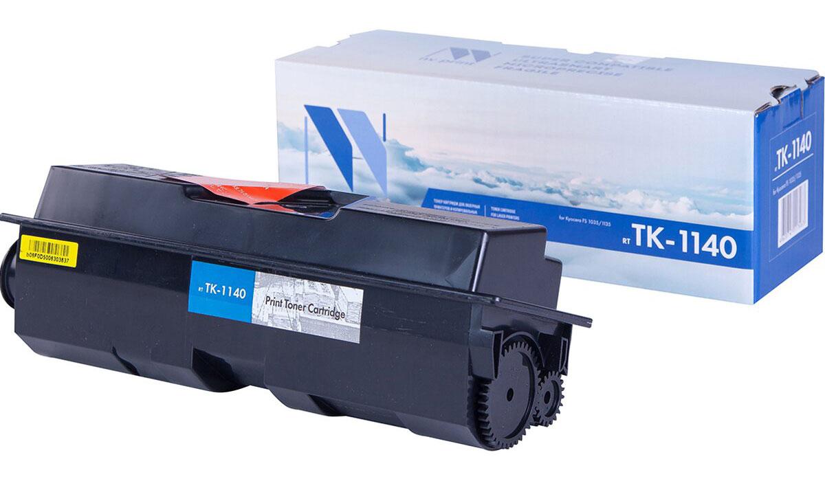 NV Print TK-1140, Black тонер-картридж для Kyocera FS-1035/1135MFPNV-TK1140Совместимый лазерный картридж NV Print TK-1140 для печатающих устройств Kyocera - это альтернатива приобретению оригинальных расходных материалов. При этом качество печати остается высоким. Картридж обеспечивает повышенную чёткость чёрного текста и плавность переходов оттенков серого цвета и полутонов, позволяет отображать мельчайшие детали изображения.Лазерные принтеры, копировальные аппараты и МФУ являются более выгодными в печати, чем струйные устройства, так как лазерных картриджей хватает на значительно большее количество отпечатков, чем обычных. Для печати в данном случае используются не чернила, а тонер.
