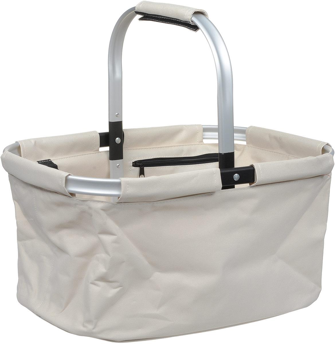 Корзина для покупок Tescoma Shop!, складная, цвет: белый, 30 х 46 х 23 см ваза mughal l 20 х 20 х 30 см