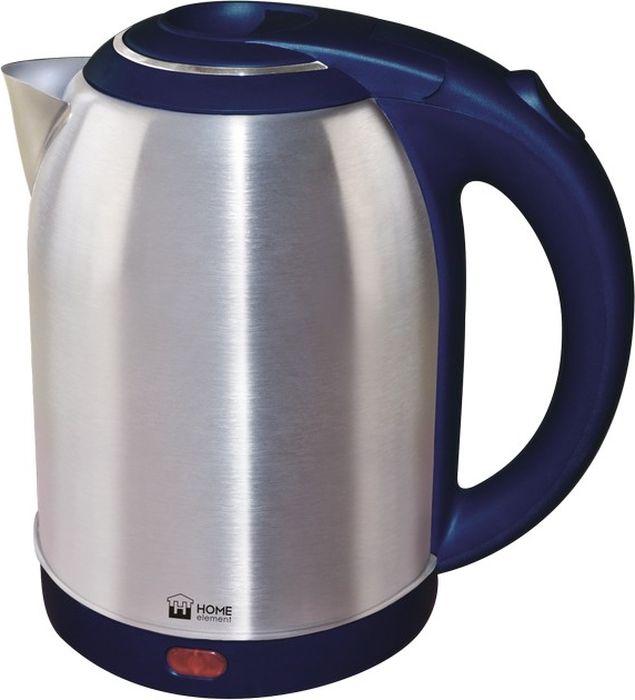 Home Element HE-KT155, Blue чайник электрическийHE-KT155Home Element HE-KT155 - отличный чайник на 2 литра для большой семьи, мощностью 1800 Вт. Вскипятит воду быстро. Автоматика отключит чайник, если в нем нет воды или она вскипела! Для удобства пользования чайник снабжен индикатором работы, и кнопкой открытия крышки. Закрытый нагревательный элемент избавит от коррозии и накипи.