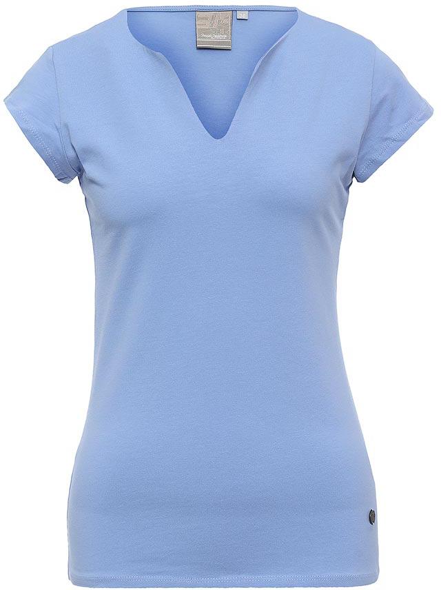 Футболка женская Icepeak, цвет: голубой. 754723591IV. Размер 42 (48)754723591IVСтильная футболка Icepeak изготовлена из натурального хлопка с добавлением эластана. Модель прямого кроя выполнена с V-образной горловиной и короткими рукавами.