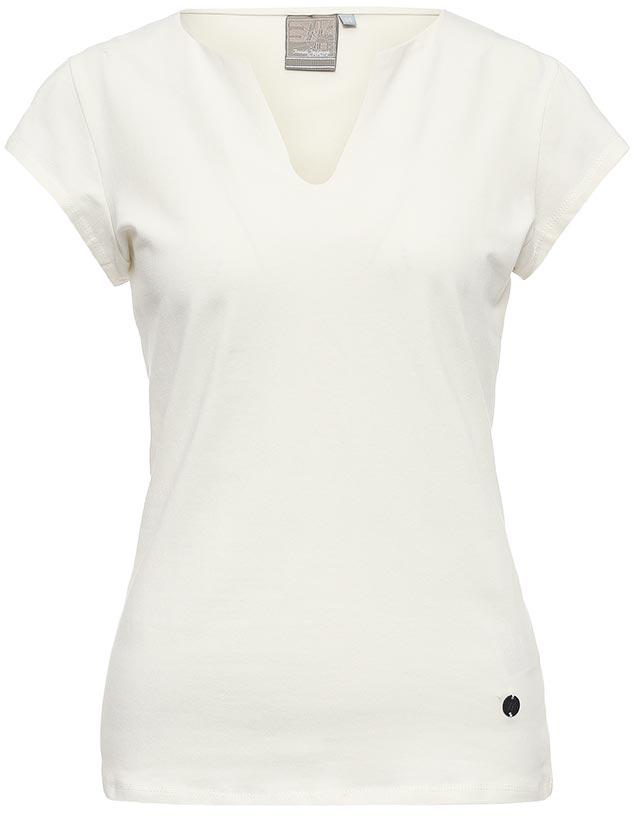 Футболка женская Icepeak, цвет: белый. 754723591IV. Размер 34 (40)754723591IVСтильная футболка Icepeak изготовлена из натурального хлопка с добавлением эластана. Модель прямого кроя выполнена с V-образной горловиной и короткими рукавами.