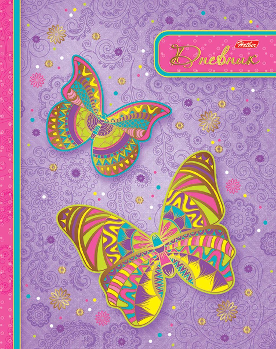 Hatber Дневник школьный Ах эти бабочки!40ДТ5фВ_16016Дневник в твердой обложке очень удобен в использовании. В качестве дизайна подобрана самая современная и интересная тема. Дополнительную изысканность изделию придает эффект тиснения фольгой.