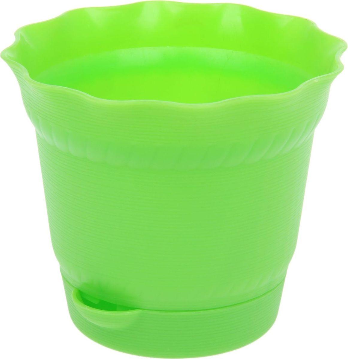 Горшок для цветов ТЕК.А.ТЕК Aquarelle, с поддоном, цвет: светло-зеленый, 1 л1411761Любой, даже самый современный и продуманный интерьер будет не завершённым без растений. Они не только очищают воздух и насыщают его кислородом, но и заметно украшают окружающее пространство. Такому полезному &laquo члену семьи&raquoпросто необходимо красивое и функциональное кашпо, оригинальный горшок или необычная ваза! Мы предлагаем - Горшок для цветов 1 л с поддоном Aquarelle, d=14 см, цвет светло-зелёный !Оптимальный выбор материала &mdash &nbsp пластмасса! Почему мы так считаем? Малый вес. С лёгкостью переносите горшки и кашпо с места на место, ставьте их на столики или полки, подвешивайте под потолок, не беспокоясь о нагрузке. Простота ухода. Пластиковые изделия не нуждаются в специальных условиях хранения. Их&nbsp легко чистить &mdashдостаточно просто сполоснуть тёплой водой. Никаких царапин. Пластиковые кашпо не царапают и не загрязняют поверхности, на которых стоят. Пластик дольше хранит влагу, а значит &mdashрастение реже нуждается в поливе. Пластмасса не пропускает воздух &mdashкорневой системе растения не грозят резкие перепады температур. Огромный выбор форм, декора и расцветок &mdashвы без труда подберёте что-то, что идеально впишется в уже существующий интерьер.Соблюдая нехитрые правила ухода, вы можете заметно продлить срок службы горшков, вазонов и кашпо из пластика: всегда учитывайте размер кроны и корневой системы растения (при разрастании большое растение способно повредить маленький горшок)берегите изделие от воздействия прямых солнечных лучей, чтобы кашпо и горшки не выцветалидержите кашпо и горшки из пластика подальше от нагревающихся поверхностей.Создавайте прекрасные цветочные композиции, выращивайте рассаду или необычные растения, а низкие цены позволят вам не ограничивать себя в выборе.