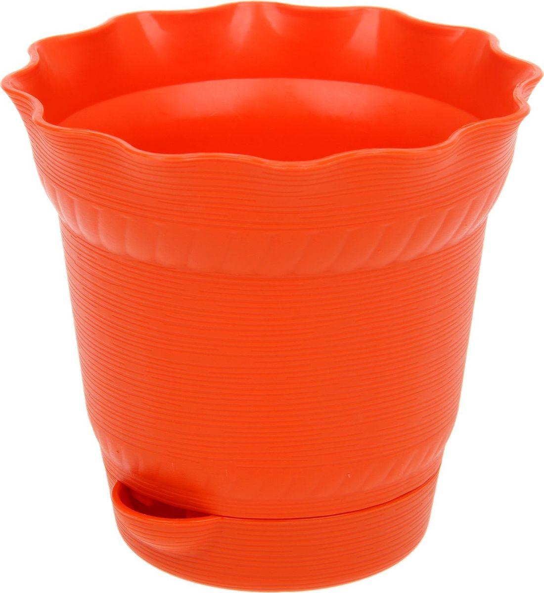 Горшок для цветов ТЕК.А.ТЕК Aquarelle, с поддоном, цвет: оранжевый, 1 л1411763Любой, даже самый современный и продуманный интерьер будет не завершённым без растений. Они не только очищают воздух и насыщают его кислородом, но и заметно украшают окружающее пространство. Такому полезному &laquo члену семьи&raquoпросто необходимо красивое и функциональное кашпо, оригинальный горшок или необычная ваза! Мы предлагаем - Горшок для цветов 1 л с поддоном Aquarelle, d=14 см, цвет оранжевый!Оптимальный выбор материала &mdash &nbsp пластмасса! Почему мы так считаем? Малый вес. С лёгкостью переносите горшки и кашпо с места на место, ставьте их на столики или полки, подвешивайте под потолок, не беспокоясь о нагрузке. Простота ухода. Пластиковые изделия не нуждаются в специальных условиях хранения. Их&nbsp легко чистить &mdashдостаточно просто сполоснуть тёплой водой. Никаких царапин. Пластиковые кашпо не царапают и не загрязняют поверхности, на которых стоят. Пластик дольше хранит влагу, а значит &mdashрастение реже нуждается в поливе. Пластмасса не пропускает воздух &mdashкорневой системе растения не грозят резкие перепады температур. Огромный выбор форм, декора и расцветок &mdashвы без труда подберёте что-то, что идеально впишется в уже существующий интерьер.Соблюдая нехитрые правила ухода, вы можете заметно продлить срок службы горшков, вазонов и кашпо из пластика: всегда учитывайте размер кроны и корневой системы растения (при разрастании большое растение способно повредить маленький горшок)берегите изделие от воздействия прямых солнечных лучей, чтобы кашпо и горшки не выцветалидержите кашпо и горшки из пластика подальше от нагревающихся поверхностей.Создавайте прекрасные цветочные композиции, выращивайте рассаду или необычные растения, а низкие цены позволят вам не ограничивать себя в выборе.