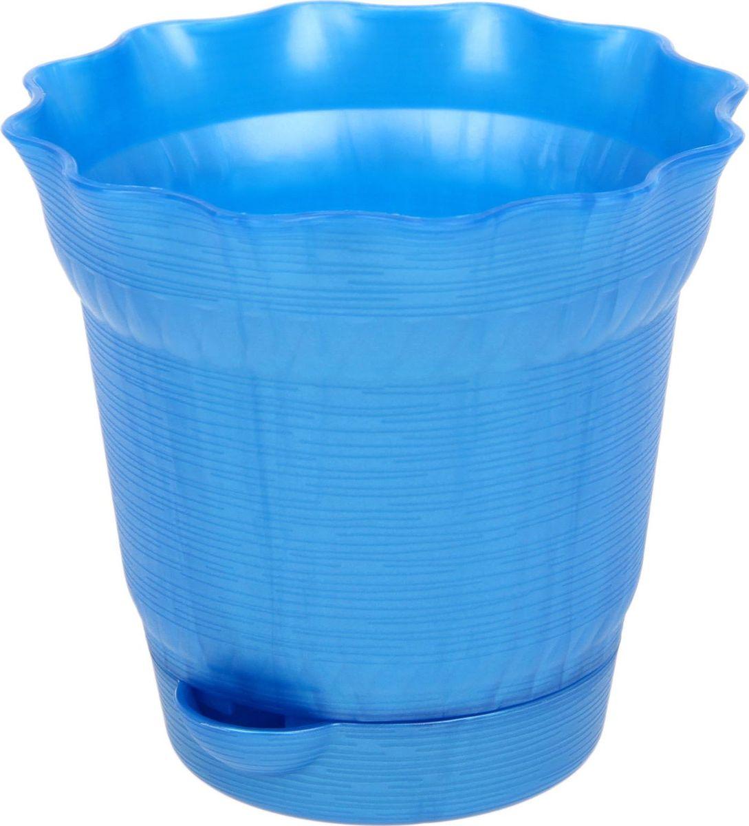 Горшок для цветов ТЕК.А.ТЕК Aquarelle, с поддоном, цвет: синий, 1 л1411765Любой, даже самый современный и продуманный интерьер будет не завершённым без растений. Они не только очищают воздух и насыщают его кислородом, но и заметно украшают окружающее пространство. Такому полезному &laquo члену семьи&raquoпросто необходимо красивое и функциональное кашпо, оригинальный горшок или необычная ваза! Мы предлагаем - Горшок для цветов 1 л с поддоном Aquarelle, d=14 см, цвет синий!Оптимальный выбор материала &mdash &nbsp пластмасса! Почему мы так считаем? Малый вес. С лёгкостью переносите горшки и кашпо с места на место, ставьте их на столики или полки, подвешивайте под потолок, не беспокоясь о нагрузке. Простота ухода. Пластиковые изделия не нуждаются в специальных условиях хранения. Их&nbsp легко чистить &mdashдостаточно просто сполоснуть тёплой водой. Никаких царапин. Пластиковые кашпо не царапают и не загрязняют поверхности, на которых стоят. Пластик дольше хранит влагу, а значит &mdashрастение реже нуждается в поливе. Пластмасса не пропускает воздух &mdashкорневой системе растения не грозят резкие перепады температур. Огромный выбор форм, декора и расцветок &mdashвы без труда подберёте что-то, что идеально впишется в уже существующий интерьер.Соблюдая нехитрые правила ухода, вы можете заметно продлить срок службы горшков, вазонов и кашпо из пластика: всегда учитывайте размер кроны и корневой системы растения (при разрастании большое растение способно повредить маленький горшок)берегите изделие от воздействия прямых солнечных лучей, чтобы кашпо и горшки не выцветалидержите кашпо и горшки из пластика подальше от нагревающихся поверхностей.Создавайте прекрасные цветочные композиции, выращивайте рассаду или необычные растения, а низкие цены позволят вам не ограничивать себя в выборе.