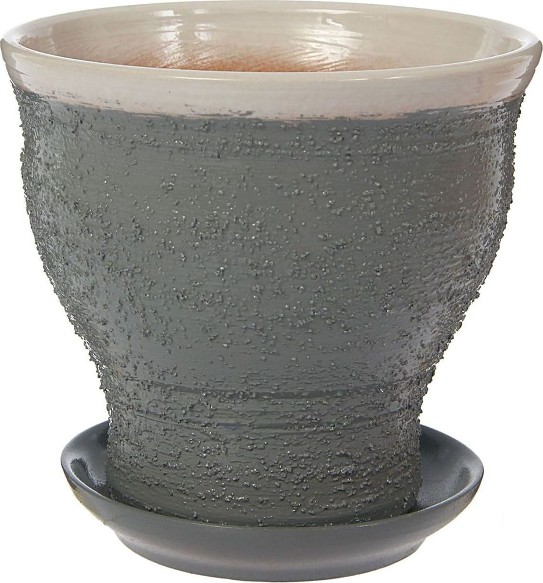 Кашпо Белла, цвет: серый, 15 х 15 х 15 см1422011