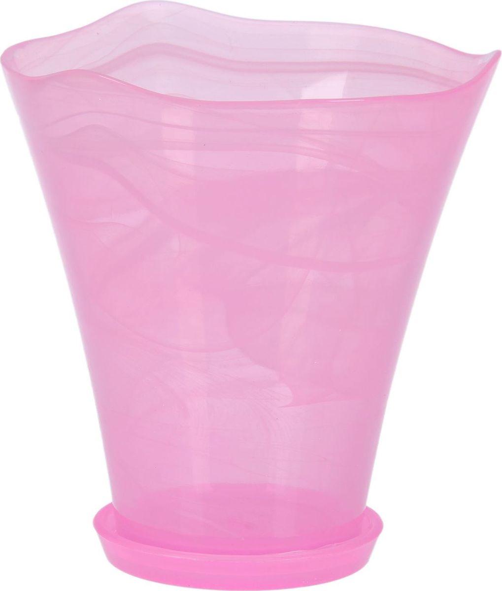 Кашпо NiNaGlass Кристина, с поддоном, цвет: розовый, 19 х 19 х 22 см1428547Комнатные растения — всеобщие любимцы. Они радуют глаз, насыщают помещение кислородом и украшают пространство. Каждому цветку необходим свой удобный и красивый дом. Из-за прозрачности стекла такие декоративные вазы для горшков пользуются большой популярностью для выращивания орхидей. #name# позаботится о зелёном питомце, освежит интерьер и подчеркнёт его стиль!