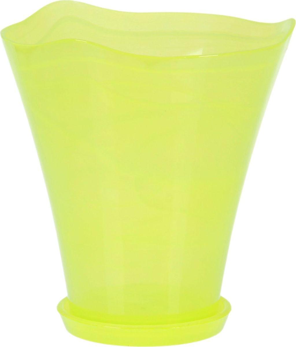 Кашпо NiNaGlass Кристина, с поддоном, цвет: салатовый, 19 х 19 х 20 см1428548Комнатные растения — всеобщие любимцы. Они радуют глаз, насыщают помещение кислородом и украшают пространство. Каждому цветку необходим свой удобный и красивый дом. Из-за прозрачности стекла такие декоративные вазы для горшков пользуются большой популярностью для выращивания орхидей. #name# позаботится о зелёном питомце, освежит интерьер и подчеркнёт его стиль!