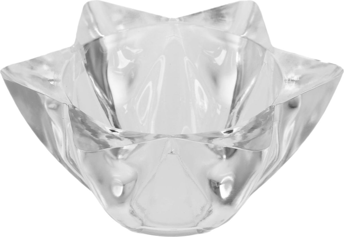 Кашпо NiNaGlass Звезда Давида, цвет: прозрачный, 15 х 15 х 6,5 см ваза ninaglass дана цвет шоколад высота 16 см