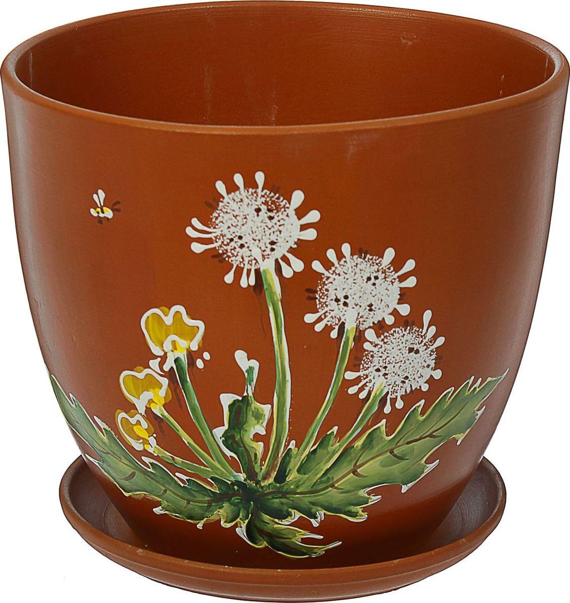 Кашпо Одуванчик, 8,5 л1437913Комнатные растения — всеобщие любимцы. Они радуют глаз, насыщают помещение кислородом и украшают пространство. Каждому из них необходим свой удобный и красивый дом. Кашпо из керамики прекрасно подходят для высадки растений: за счёт пластичности глины и разных способов обработки существует великое множество форм и дизайновпористый материал позволяет испаряться лишней влагевоздух, необходимый для дыхания корней, проникает сквозь керамические стенки! #name# позаботится о зелёном питомце, освежит интерьер и подчеркнёт его стиль.