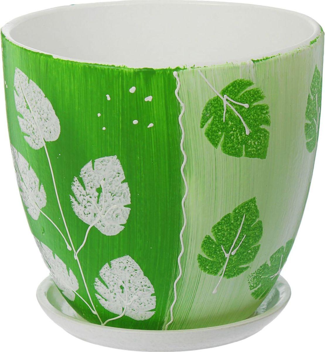 Кашпо Акварель, цвет: зеленый, 4,8 л1437933Комнатные растения — всеобщие любимцы. Они радуют глаз, насыщают помещение кислородом и украшают пространство. Каждому из них необходим свой удобный и красивый дом. Кашпо из керамики прекрасно подходят для высадки растений: за счёт пластичности глины и разных способов обработки существует великое множество форм и дизайновпористый материал позволяет испаряться лишней влагевоздух, необходимый для дыхания корней, проникает сквозь керамические стенки! #name# позаботится о зелёном питомце, освежит интерьер и подчеркнёт его стиль.