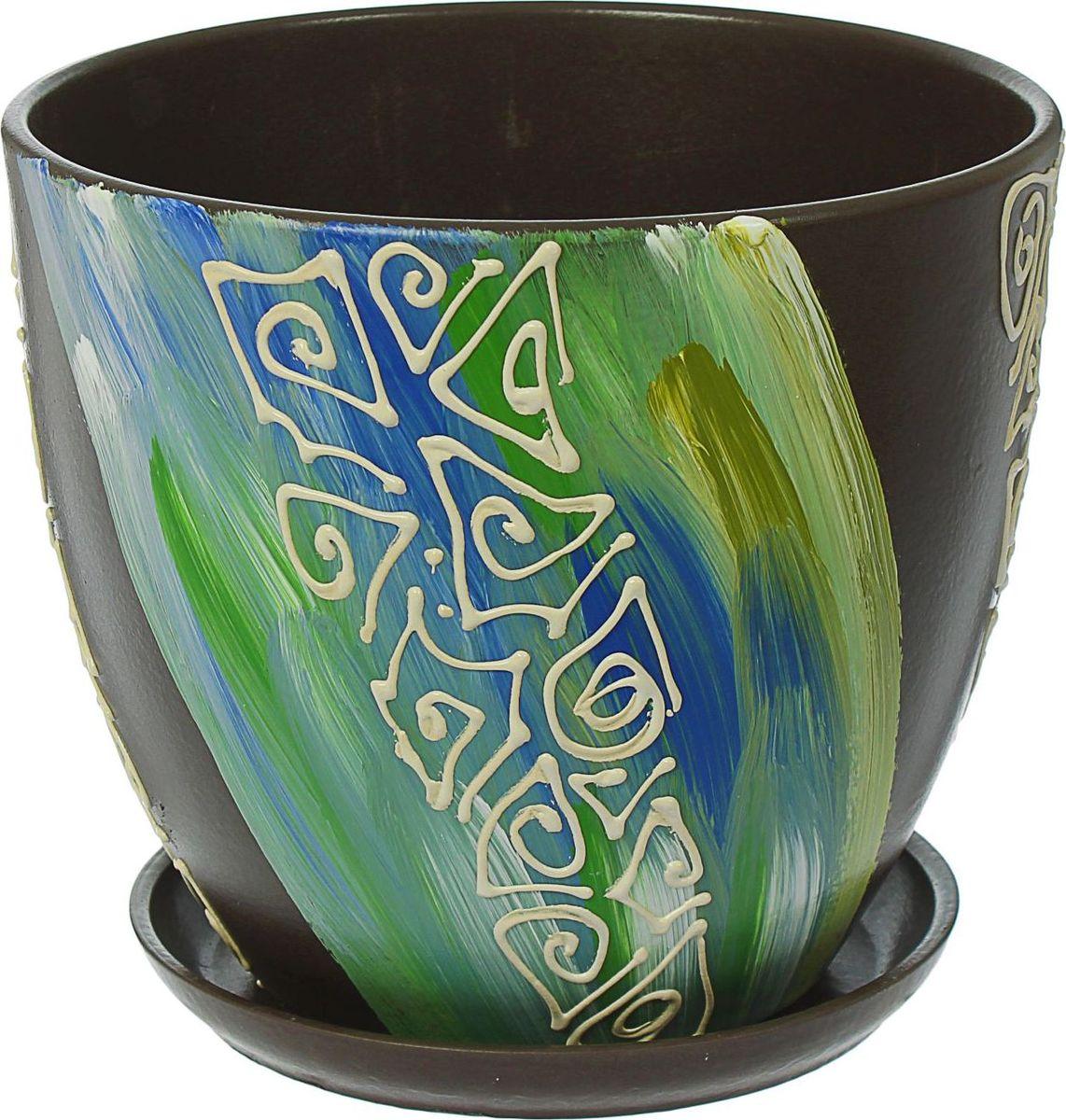 Кашпо Аква, 8,5 л1437934Комнатные растения — всеобщие любимцы. Они радуют глаз, насыщают помещение кислородом и украшают пространство. Каждому из них необходим свой удобный и красивый дом. Кашпо из керамики прекрасно подходят для высадки растений: за счёт пластичности глины и разных способов обработки существует великое множество форм и дизайновпористый материал позволяет испаряться лишней влагевоздух, необходимый для дыхания корней, проникает сквозь керамические стенки! #name# позаботится о зелёном питомце, освежит интерьер и подчеркнёт его стиль.