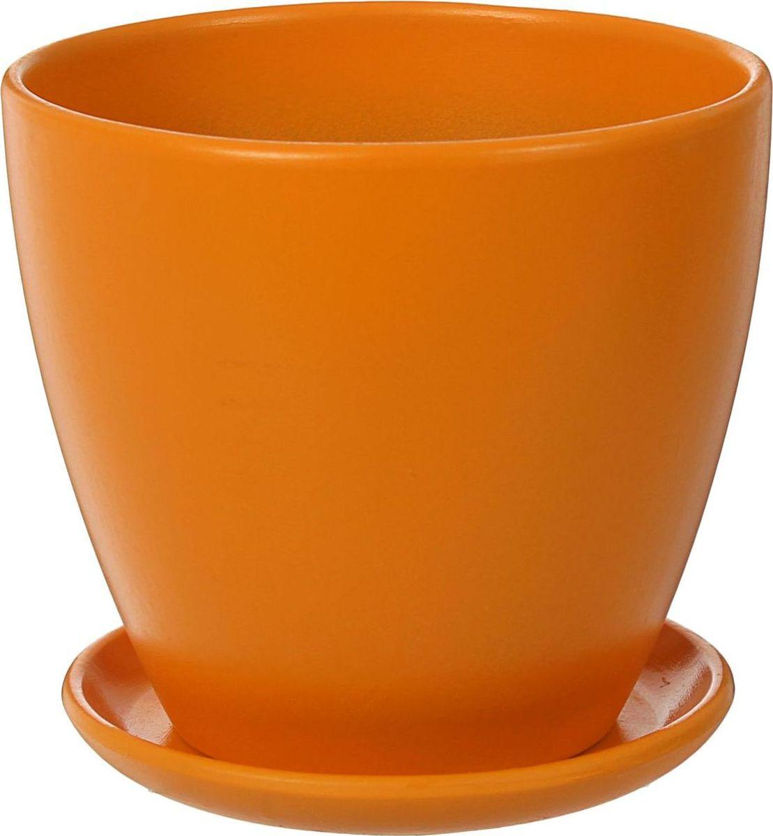 Кашпо Август, цвет: медовый, 1,4 л1439958