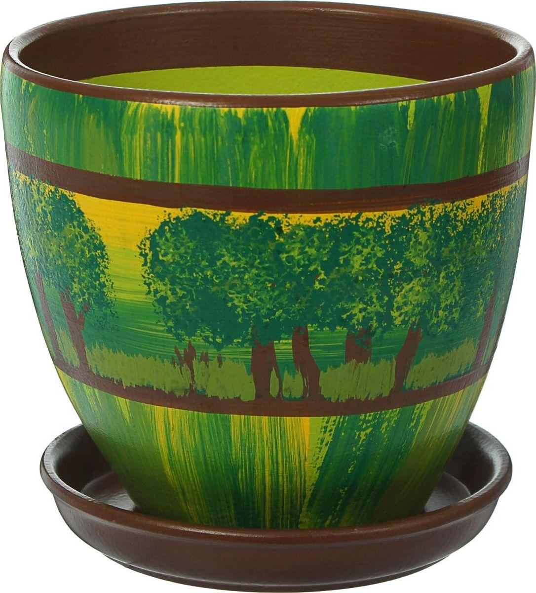 Кашпо Роща, цвет: зеленый, 2,4 л1439965