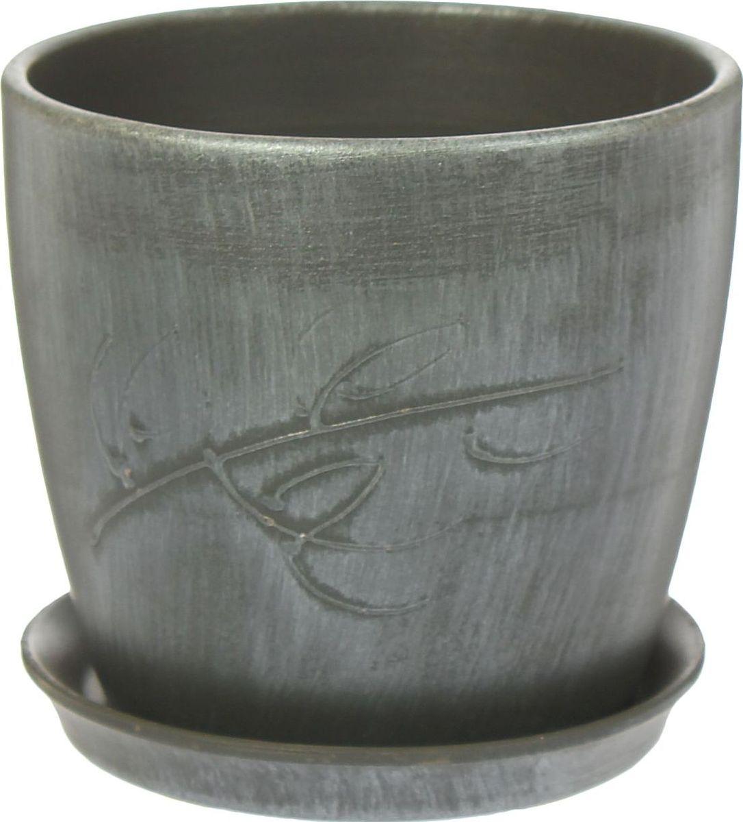 Кашпо Керамика ручной работы Осень. Патина, цвет: серебристый, 2 л1441040Декоративное кашпо, выполненное из высококачественной керамики, предназначено для посадки декоративных растений и станет прекрасным украшением для дома. Пористый материал позволяет испаряться лишней влаге, а воздух, необходимый для дыхания корней, проникает сквозь керамические стенки. Такое кашпо украсит окружающее пространство и подчеркнет его оригинальный стиль.