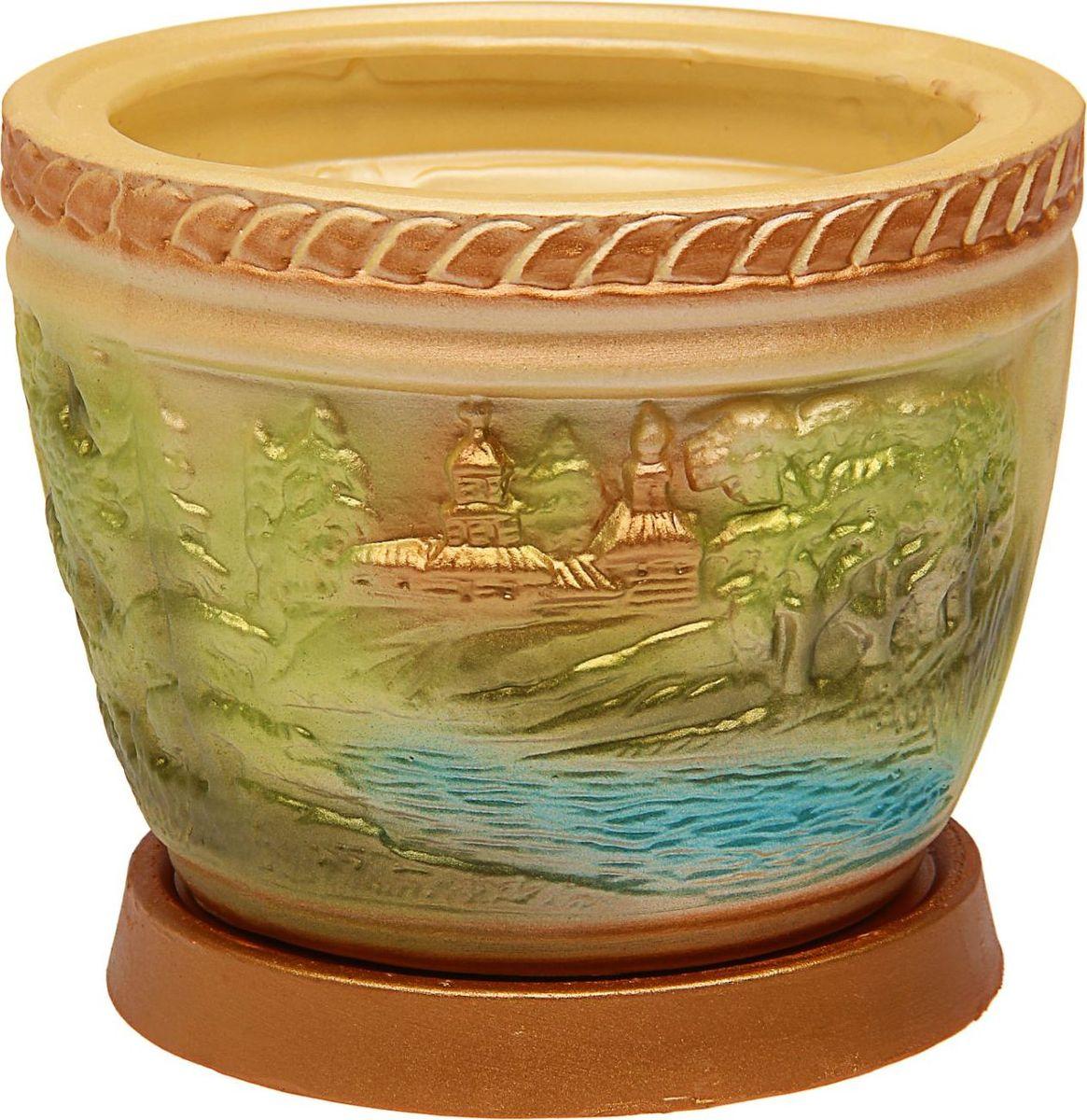 Кашпо Керамика ручной работы Лес, цвет: мультиколор, 4 л1465261Комнатные растения — всеобщие любимцы. Они радуют глаз, насыщают помещение кислородом и украшают пространство. Каждому из них необходим свой удобный и красивый дом. Кашпо из керамики прекрасно подходят для высадки растений: за счёт пластичности глины и разных способов обработки существует великое множество форм и дизайновпористый материал позволяет испаряться лишней влагевоздух, необходимый для дыхания корней, проникает сквозь керамические стенки! #name# позаботится о зелёном питомце, освежит интерьер и подчеркнёт его стиль.