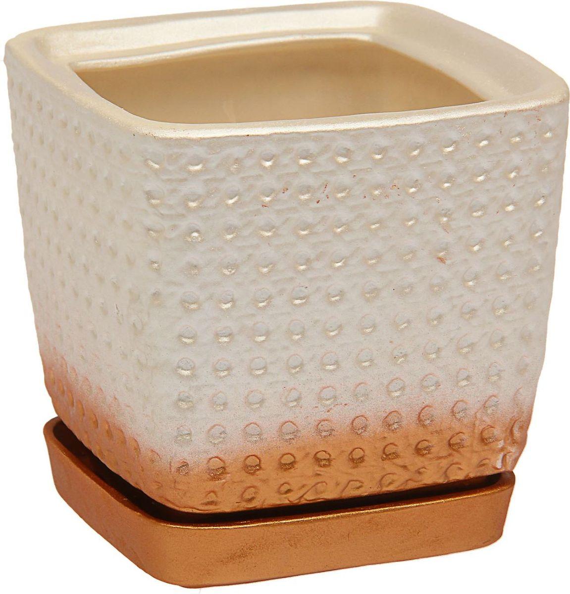 Кашпо Керамика ручной работы Квадрат, цвет: белый, 2 л1465280Комнатные растения — всеобщие любимцы. Они радуют глаз, насыщают помещение кислородом и украшают пространство. Каждому из них необходим свой удобный и красивый дом. Кашпо из керамики прекрасно подходят для высадки растений: за счёт пластичности глины и разных способов обработки существует великое множество форм и дизайновпористый материал позволяет испаряться лишней влагевоздух, необходимый для дыхания корней, проникает сквозь керамические стенки! #name# позаботится о зелёном питомце, освежит интерьер и подчеркнёт его стиль.