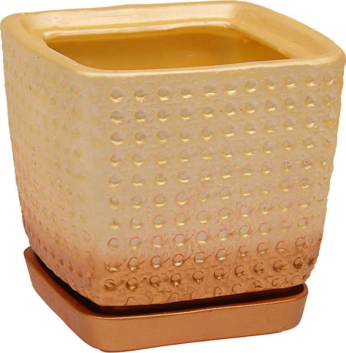 Кашпо Керамика ручной работы Квадрат, цвет: слоновая кость, 2 л1465281Комнатные растения — всеобщие любимцы. Они радуют глаз, насыщают помещение кислородом и украшают пространство. Каждому из них необходим свой удобный и красивый дом. Кашпо из керамики прекрасно подходят для высадки растений: за счёт пластичности глины и разных способов обработки существует великое множество форм и дизайновпористый материал позволяет испаряться лишней влагевоздух, необходимый для дыхания корней, проникает сквозь керамические стенки! #name# позаботится о зелёном питомце, освежит интерьер и подчеркнёт его стиль.