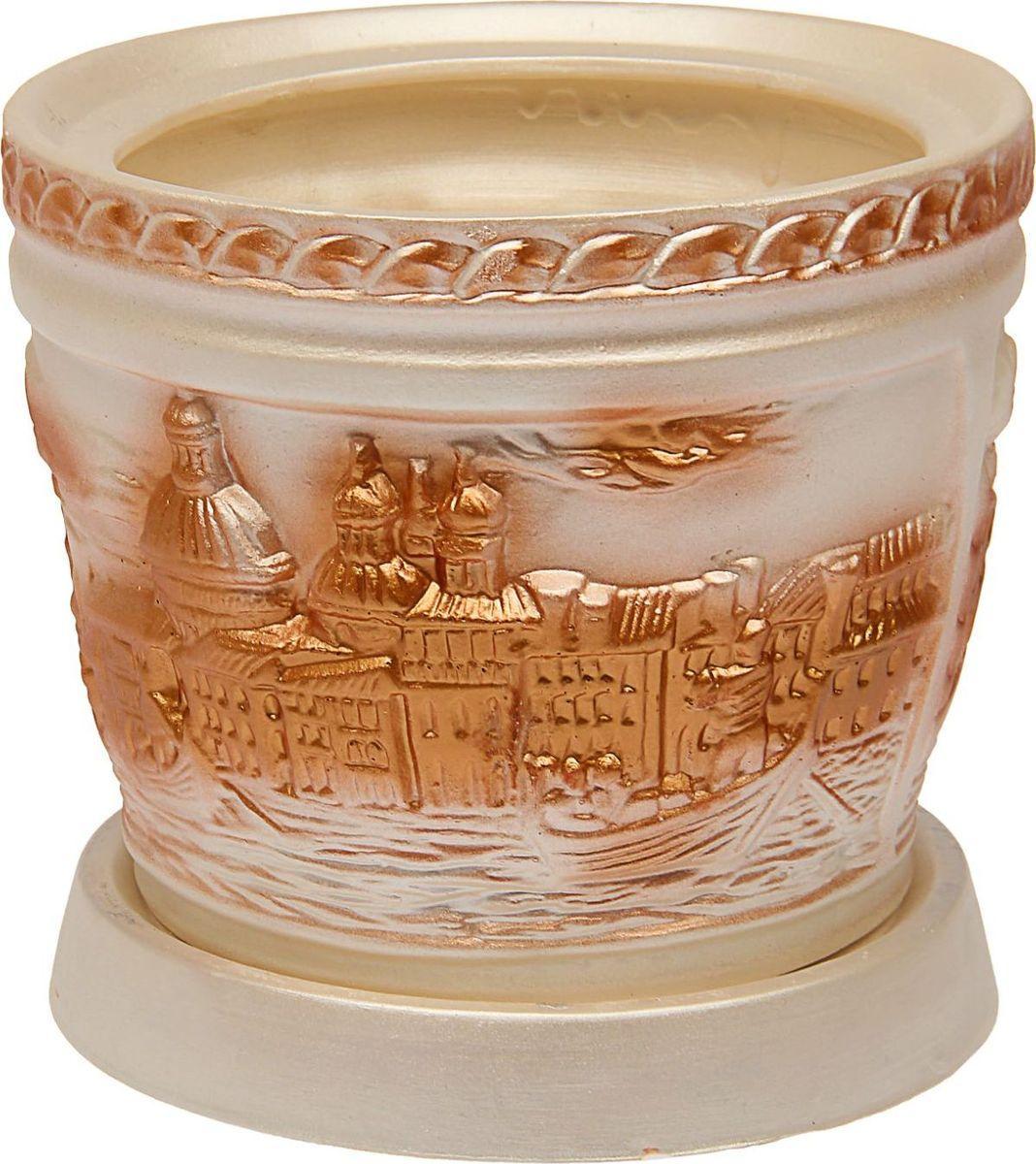 Кашпо Керамика ручной работы, цвет: белый, 4,5 л1465282