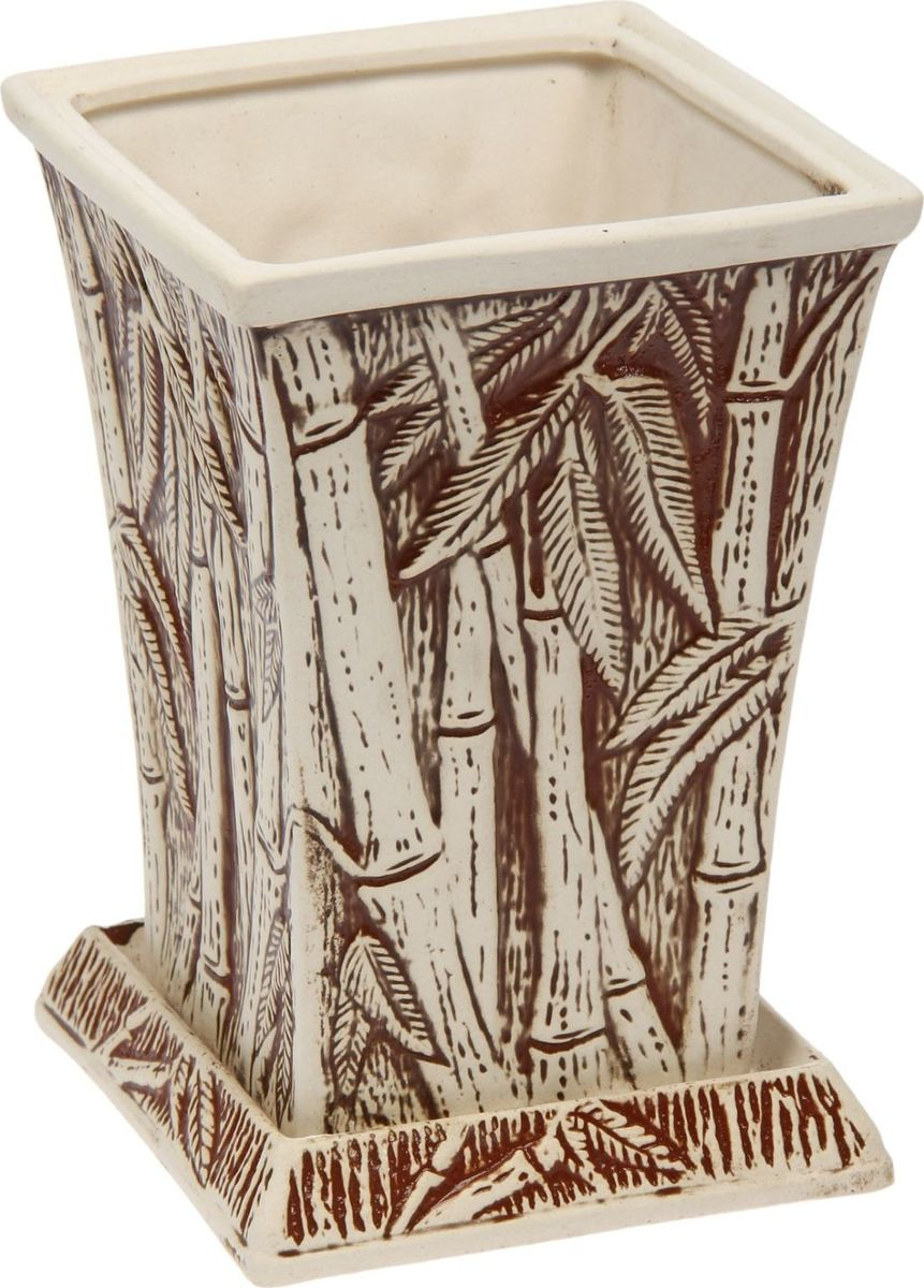 Кашпо Керамика ручной работы Бамбук, 2 л. 14758951475895Комнатные растения — всеобщие любимцы. Они радуют глаз, насыщают помещение кислородом и украшают пространство. Каждому из них необходим свой удобный и красивый дом. Кашпо из керамики прекрасно подходят для высадки растений: за счет пластичности глины и разных способов обработки существует великое множество форм и дизайнов пористый материал позволяет испаряться лишней влаге воздух, необходимый для дыхания корней, проникает сквозь керамические стенки! позаботится о зеленом питомце, освежит интерьер и подчеркнет его стиль.