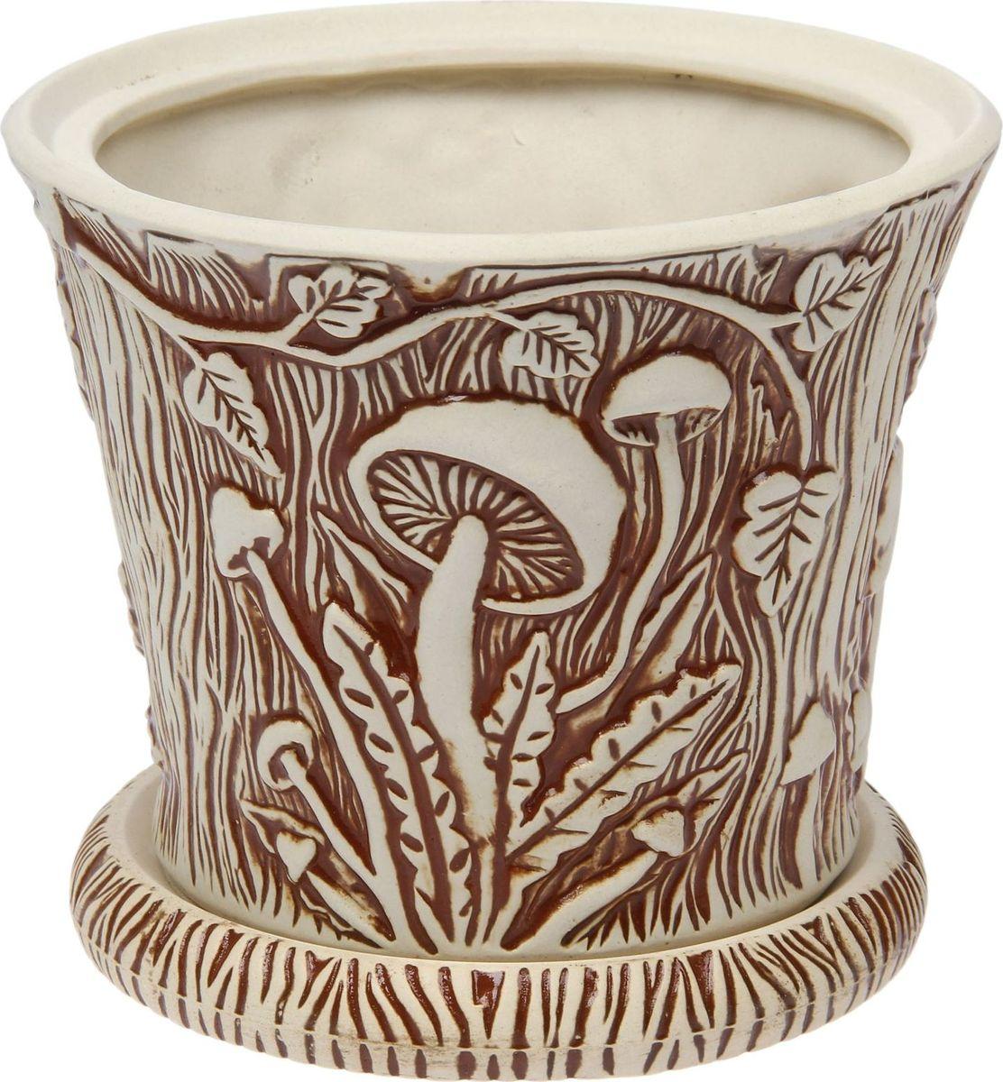 Кашпо Керамика ручной работы Грибы, 3 л1475897Комнатные растения — всеобщие любимцы. Они радуют глаз, насыщают помещение кислородом и украшают пространство. Каждому из них необходим свой удобный и красивый дом. Кашпо из керамики прекрасно подходят для высадки растений: за счет пластичности глины и разных способов обработки существует великое множество форм и дизайнов пористый материал позволяет испаряться лишней влаге воздух, необходимый для дыхания корней, проникает сквозь керамические стенки! позаботится о зеленом питомце, освежит интерьер и подчеркнет его стиль.